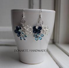 Sweet little flower earrings by DonarteHandmade on Etsy