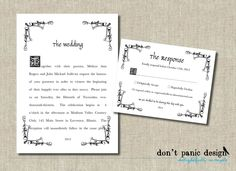 Printable Wedding Invitation  Whimsical Fairy by DontPanicDesign, $15.00