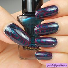 Painted Fingertips | Water marble wednesday - Supermoon Lacquer Alpha Lupi and Gamma Lupi