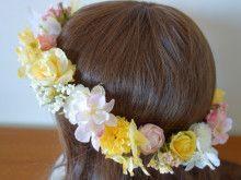 ふんわりピンク&イエローのアイテムセット☆ |Ordermade Wedding Flower Item MY FLOWER ♪ まゆこのブログ