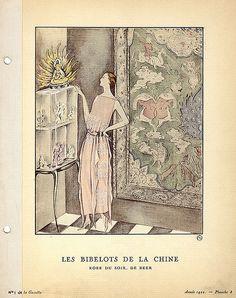 Designer: Gustav Beer    Date: 1922    Description: Pink evening gown by Beer