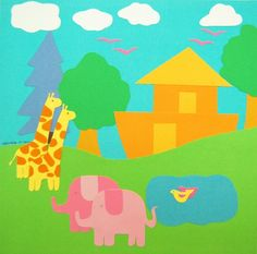 Items similar to Noah's Ark Cut Paper Wall Art on Etsy Cut Paper, Paper Cutting, Paper Wall Art, Ark, My Etsy Shop, Wallpaper, Abstract, Artwork, Wallpaper Desktop