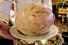 One of the most famous Bocuse dishes, chicken cooked in a pig's bladder to help infuse the flavors of black truffle, white wine, and foie gras