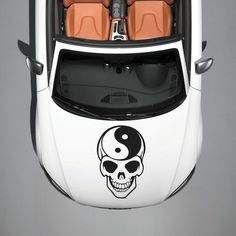 Skull Taoism Sign Yin and Yang HOOD CAR VINYL STICKER DECALS GRAPHICS SV3668
