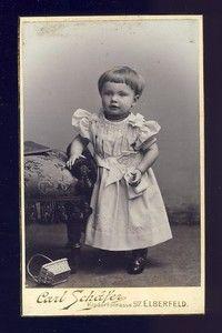 Vintage cabinet card of German toddler