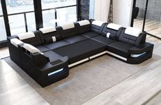 Pictures of Sectional Sofas Betten denver u shape modern luxury sectionals sofadreams kdoaiud - Klasweb Large Sectional Sofa, Fabric Sectional, Leather Sectional Sofas, Sofa Bed, Couch, Corner Sofa Design, Living Room Sofa Design, Luxury Furniture, Furniture Design