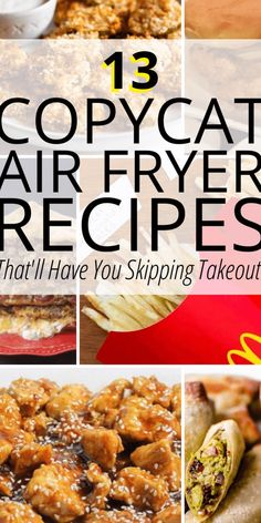 These Air Fryer recipes are perfect copycats of the restaurant recipes you love! We've found all the best copycat air fryer recipes like a tasty Chick-fil-A Air Fryer Chicken Sandwich Recipe, deliciou Air Frier Recipes, Air Fryer Oven Recipes, Air Fryer Dinner Recipes, Appetizer Recipes, Recipes For Airfryer, Air Fryer Recipes Videos, Appetizer Dessert, Meat Appetizers, Recipes Dinner