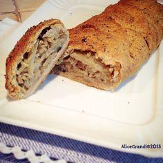 Strudel di farro integrale con cavolo e cipolle | Cabbage and onion vegan strudel