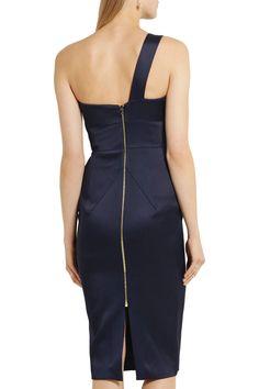 Roland MouretAnerley one-shoulder satin midi dress