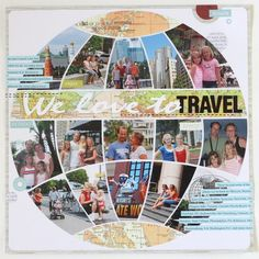 Great way to create a layout to showcase multiple trips!