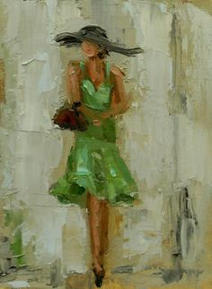 Kathryn Morris Trotter American Impressionist Knife painter Dancing in the Rain Tutt Art@ Painting People, Woman Painting, Figure Painting, Painting & Drawing, Abstract Watercolor, Abstract Art, Art Abstrait, Pics Art, Painting Inspiration
