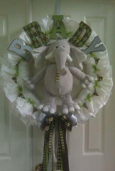 Brady's Diaper Wreath