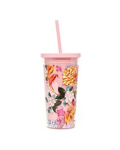do Floral Insulated Sip Sip Tumbler with Reusable Straw, 20 Ounces (Rose Parade) Selfies, Sip Sip Hooray, Fresh Squeezed Lemonade, Tumbler With Straw, Kawaii, Insulated Tumblers, Baby Clothes Shops, Look Cool, House Warming