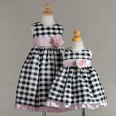 Super Cute for I dont know what occasion yet... Style 850- Black Checked Taffeta Dress, $39.99