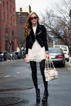 Black and white fall look