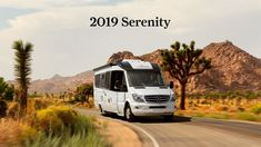 View photos of the Serenity Class C RV by Leisure Travel Vans. See photos, videos, floorplans and more of the luxurious Serenity, built on the Mercedes Sprinter Cab Chassis. Sprinter Van, Mercedes Sprinter, Retro Trailers, Camping Trailers, Travel Trailers, Leisure Travel Vans, Class B Rv, Van Home, Fuel Economy