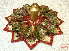 Centro de mesa de Navidad tridimensional - La Retalera Patchwork