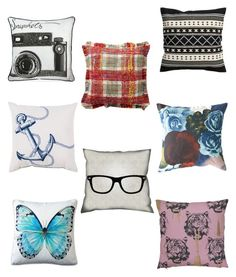 Rock N' Art: throw pillows by xtinaml on Polyvore featuring art