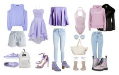 """""""Pastel Colors  - Sierra 💚"""" by xolafkax on Polyvore featuring MANGO, Levi's, Vans, JanSport, Boohoo, Kate Spade, Canari, L'F Shoes, For Art's Sake and The Beach People"""