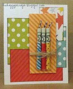 This is genius to use money as candles!—Generic—Money Candle Birthday Card