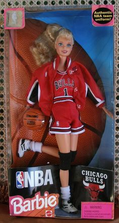 NIB Collectible NBA Basketball Chicago Bulls Licensed Product Athlete Barbie $29.99 FREE SHIPPING