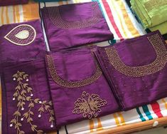 Zardosi Embroidery, Embroidery On Kurtis, Kurti Embroidery Design, Hand Embroidery Dress, Embroidered Kurti, Embroidery Neck Designs, Embroidery Fashion, Chudithar Neck Designs, Salwar Neck Designs