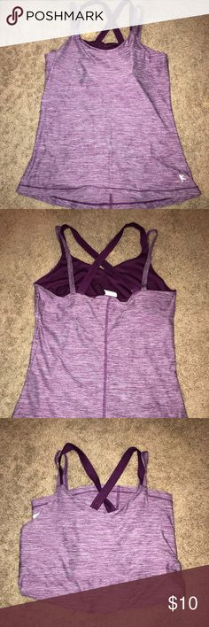 Maroon Workout Tank NWOT Never worn. Built-in sports bra. Tops Tank Tops