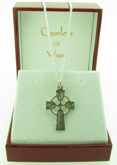 Sterling silver, Celtic cross and chain (002134-001217) – Cawley Jewellers