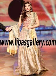 Gorgeous Urwa Hocane Beautiful Wedding Lehenga Choli with Exquisite Embellishments for Wedding - Fall in LOVE with Urwa Hocane and don't worry about the size you need. We've got you covered, every single bridal style is available in size 0-34! to our classic & chic Couture Style, Bridal Couture Week Lehenga Choli style has been a strong customer favorite! www.libasgallery.com #UK #USA #Canada #Australia #France #Germany #SaudiArabia #Norway #Sweden #NewZealand #Austria #Switzerland…
