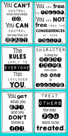 FREE Classroom Posters For Every Teacher, because we all teach Character Education! From Light Bulbs and Laughter.: