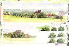 Bolinda Vale watercolour sketches