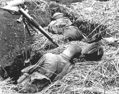 Red Army mortar crew after a direct hit by German counterfire.