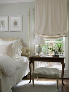 A popular placement of windows in a bedroom is on the bed wall flanking where the bed would be positioned. Home Bedroom, Master Bedroom, Bedroom Decor, Calm Bedroom, Airy Bedroom, Peaceful Bedroom, Linen Bedroom, Pretty Bedroom, Bedroom Colors