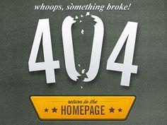 Original 404 error page.