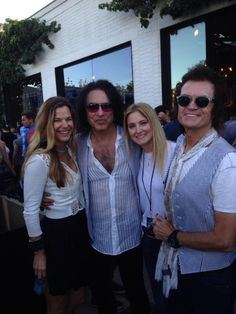 Gilligan Gibbons (Billy's Mrs), Paul Stanley, Gab & yours truly...