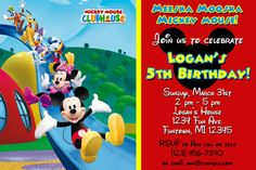 Printable Mickey Mouse Birthday Party Invitation