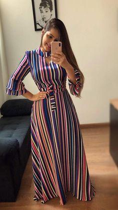 #mustachestore #dress #dress #estampa #lindo #rosas    - Cappadocia Travel  #cappadocia #dress #estampa #lindo #mustachestore #rosas African Maxi Dresses, Latest African Fashion Dresses, Women's Fashion Dresses, Modest Dresses, Stylish Dresses, Casual Dresses, Latest Fashion Design, Trend Fashion, Casual Frocks