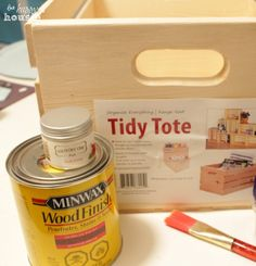 DIY Dry Brushed and Distressed Chalk Paint Numbered Crates :: Hometalk