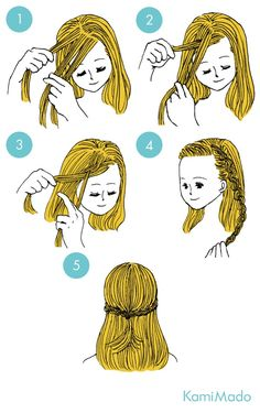 Front braid hairstyle - Bullet journal ideas pages Cute Simple Hairstyles, Work Hairstyles, Braided Hairstyles, Hairstyle Braid, Blonde Layered Hair, Five Minute Hairstyles, Front Braids, Hair Upstyles, Hair Dos