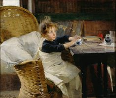 Helene Schjerfbeck: The Convalescent Finnish National Gallery/Ateneum Art Museum. Helene Schjerfbeck, Helsinki, National Gallery, Royal Academy Of Arts, Illustration, Heritage Image, Vincent Van Gogh, Les Oeuvres, Painting & Drawing