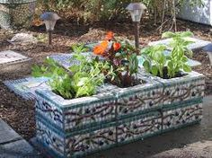 mosaic ideas for pots - Google Search