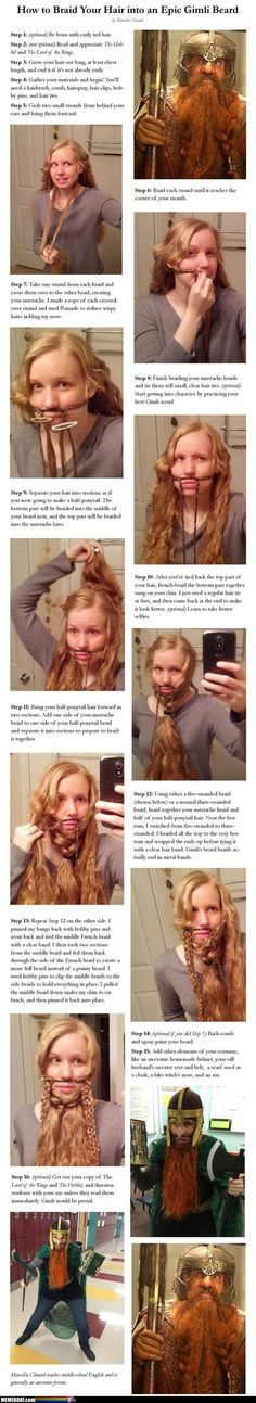 Turning You Hair Into An Epic Beard… SO DOING THIS. @Ellen Haapoja This has you written all over it!