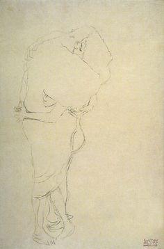 Gustav Klimt - Standing Couple in an Embrace Klimt Art, Gustav Klimt, Egon Schiele Drawings, Vienna Secession, Vintage Artwork, Erotic Art, Art Reference, Fantasy Art, Art Nouveau