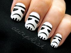 Stormtrooper nails. Awesome!