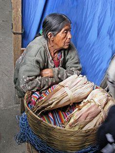 Mayan Corn Vendor, Chichicastenango market, Guatemala.  Photo: Gary Grossman, via Flickr