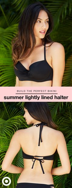Ready for some sun? Find your perfect fit with Shade & Shore's bra-size swimwear. The Summer bikini top comes in sizes 32A to 38DDD and features a halter style with light lift. Plus, the longline silhouette and adjustable ties at the neck and back means a supported, customized fit. Choose from a variety of colors and patterns, then pick your favorite Shade & Shore bottoms (mix and match!). Bonus: free shipping & returns makes it easy to order multiple sizes and styles, and keep what fits.