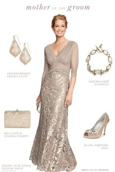 Beige Dress for the Mother of the Groom.