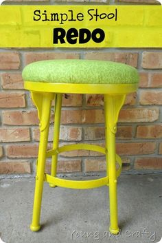 Simple Stool Redo - you should see what this looked like before they got started!