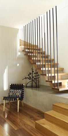 ideasgn — Farleigh House by Venn Architects Stair Handrail, Staircase Railings, Stairways, Interior Staircase, Modern Staircase, Modern Entryway, Melbourne Architecture, Architecture Details, Stairs Architecture