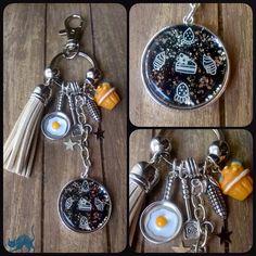 """Porte-clés/bijou de sac Nail Art """"Cook""""par les Malices D'hanigrigri"""